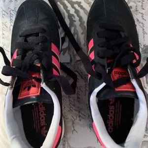 Adidas Samoa  black pink stripes